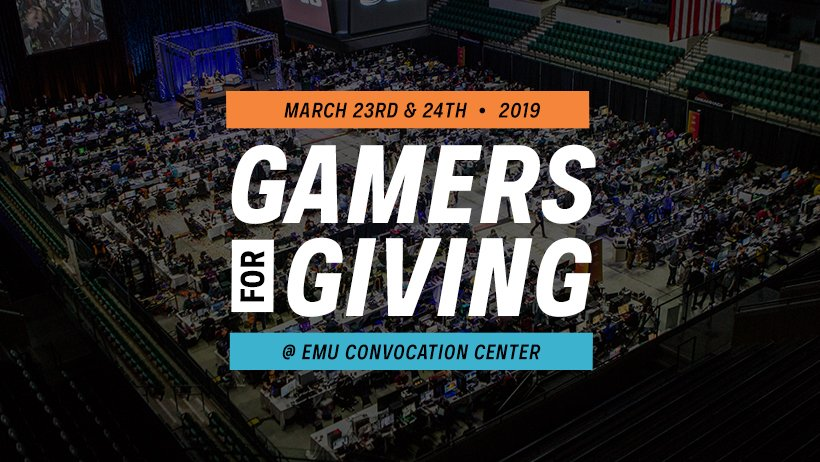 Gamers For Giving Charity Gaming Event | Information